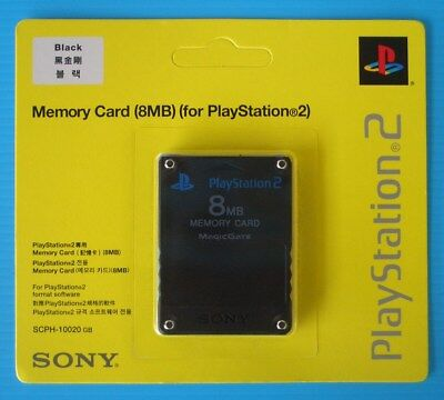 Genuine Sony PlayStation 2 Memory Card PS2 8MB. Black in Sealed Original Package