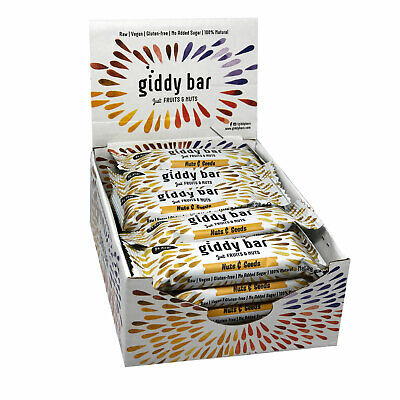 Giddy Bar Vegane Snackriegel 20er Pack Sorte Nuts & Seeds