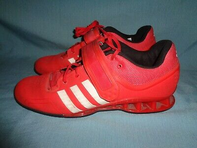 ADIDAS ADIPOWER OLYMPIC Weightlifting Shoes Red USED Size