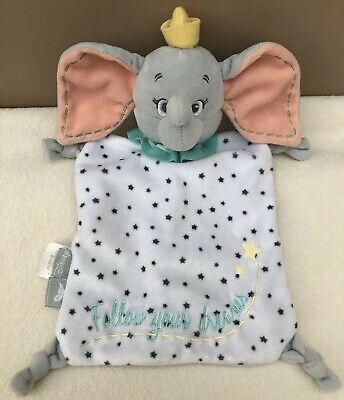 Disney Dumbo Elephant Comforter Blankie Follow Your Dreams Baby Soft Toy Soother