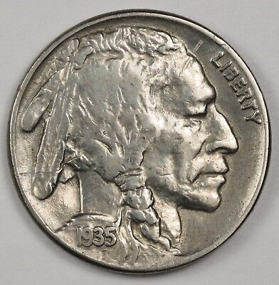 1935 Buffalo Nickel.  Double Die Reverse.  V.F.  118814