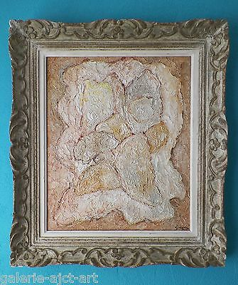 Gino GREGORI Rare Tableau HST huile toile 1955 Braque Picasso Montparnasse 62ans