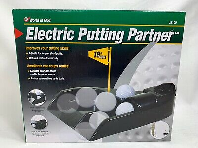 World Of Golf Electric Putting Partner W Ball Return Aid Brand New