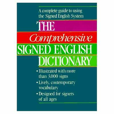 The Comprehensive Signed English Dictionary (Signed Eng - Hardcover NEW Bornstei