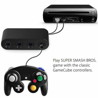 GameCube Controller Adapter 4 port for nintendo Switch Wii U & PC USB NEW TURBO