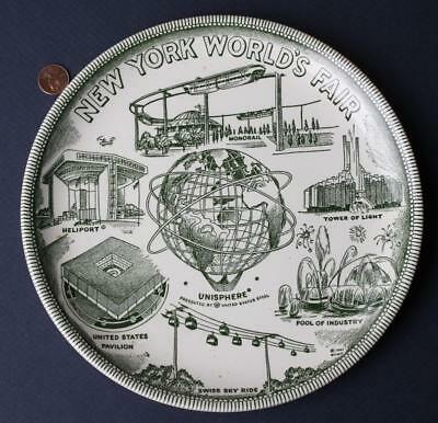 1964-65 New York Worlds Fair U.S.Steel Unisphere-Monorail-Heliport & MORE plate*