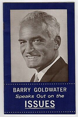 1964 BARRY GOLDWATER Speaks Out on Issues BOOKLET President POLITICAL Cuba AZ