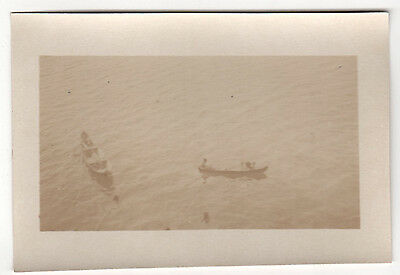 RARE 1920s CARTAGENA COLOMBIA Photograph PHOTO Colombian NATIVES Locals BOATS