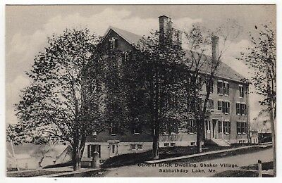 SABBATHDAY LAKE MAINE Shaker Village PC Postcard SHAKERS Brick Home HOUSE