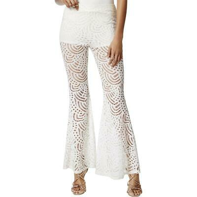 23fcab29dd80 Material Girl Womens White Lace Overlay Casual Pants Juniors XXL BHFO 1681