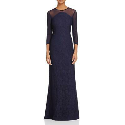 Adrianna Papell Womens Lace Illusion Mermaid Evening Dress Gown BHFO 1568