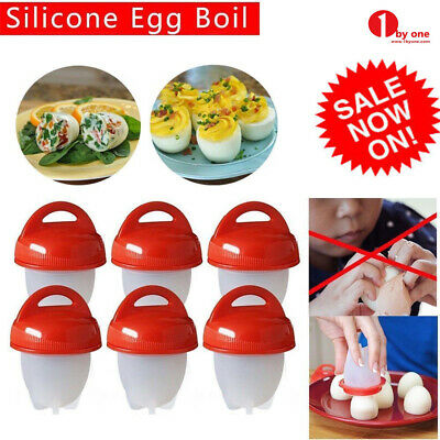 6//12 Pcs Egg Cooker Egglets Haird Boiled Without Shell Eggs Cooking Eggies Red