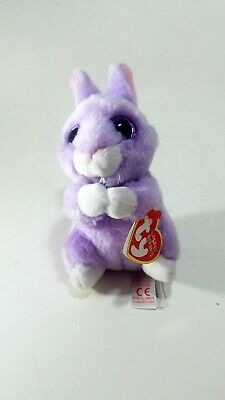 Ty Basket Beanies Collection April Easter Bunny VelveTy Purple Bunny Plush  Toy 72b1d7ba2331