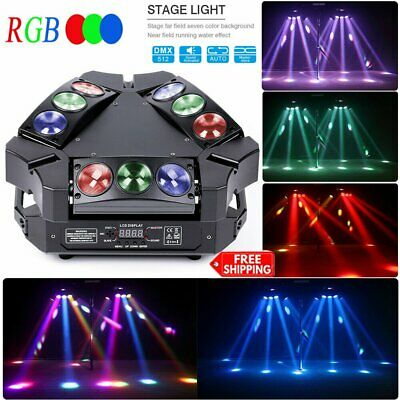 90W U`King RGB Mini 9 LEDs Bird Moving Head Stage Light DMX512 Party Disco Party