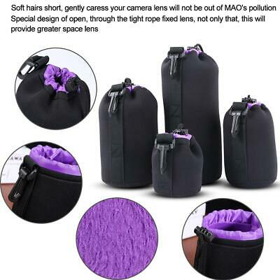 Waterproof SLR Camera Drawstring Lens Pouch Protective Inside Brushed Cover Soft