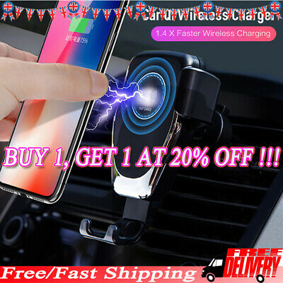 10W QI Wireless Car Charger Phone Mount Holder For Samsung S10 S9 S8 Plus S7 LO1
