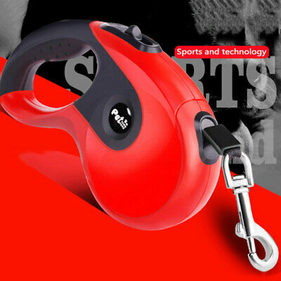 Retractable Dog Lead Extending Leash Tape 3m 5m Long Max 50kg Locking device NEW