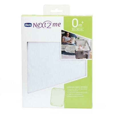 Chicco Hygenic Terry Mattress Cover - Next2Me (White) Soft & Protective