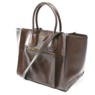 00c214ffd6 Prada Borsa Marrone Donna Borsa Borsa Borsa Shopper Totale Morbido Vitello  Pelle