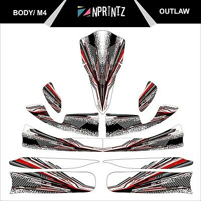 M4 Outlaw Full Kart Sticker Kit - Karting - Otk - Evk M4