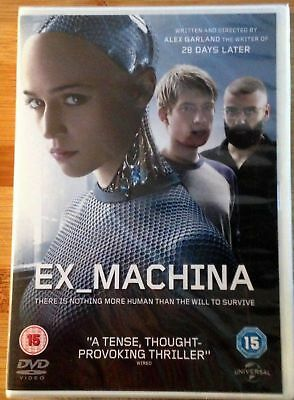 Ex Machina Brand New Sealed Dvd Pal Reg 2 Alex Garland Annihilation 2015 Sci Fi