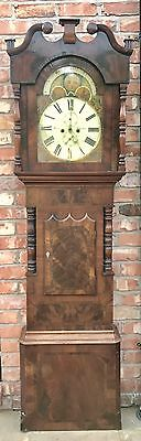 Antique 8 Day Rolling Moon Grand Father Clock By Price Of Chester