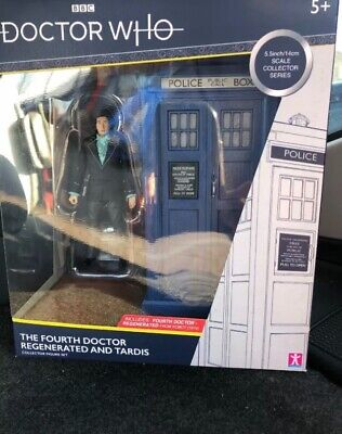 Doctor Who 4th Dr Regenerated Fourth Doctor and TARDIS (B&M Exclusive, NEW!)