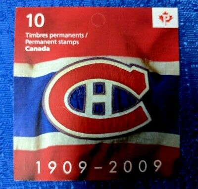 NHL CANADA POST 2009 MONTREAL CANADIENS 100th ANNIVERSARY 10 STAMP BOOKLET