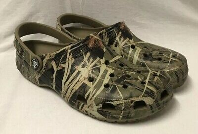 aaa4ee685d5d2 CROCS RealTree Advantage Max-4 HD Camouflage Classic Clogs Men's 12 LIKE  NEW!