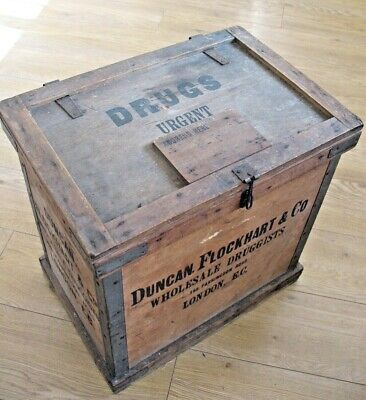Rare 1900's Duncan Flockhart & Co Druggists advertising dispatch shipping box