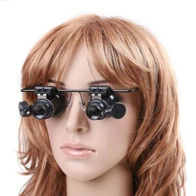 Headband Magnifier with 2 LED Light Lens Hands Free Magnifying Eye Glass Loupe