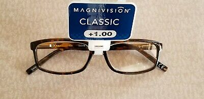 d59ed7e502  22 Magnivision by Foster Grant +1.00 Reading Glasses Liam C DMI Brown  Frames