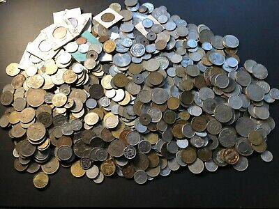 Massive Bulk Lot of 1000+ Assorted Asian Asian Coins Lot#A20 Neat Group!