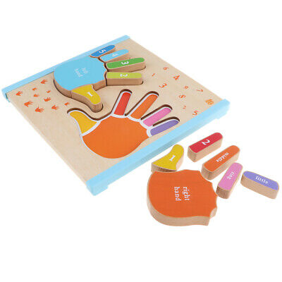Kids Baby Wooden Learning Geometry Puzzle Montessori Educational Toys
