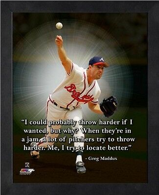 Greg Maddux Chicago Cubs Mlb Pro Quotes Photo Size 9 X 11