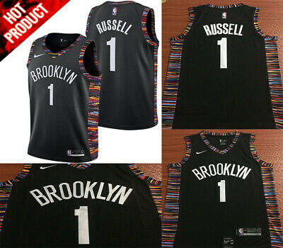 Brand New Brooklyn Nets  1 D Angelo Russell Black City Edition Swingman  Jerseys ce90a6de1