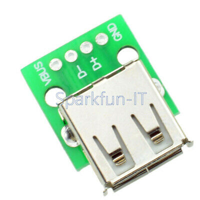 10PCS Type A Female USB To DIP 2.54MM PCB Board Adapter Converter For Arduino T