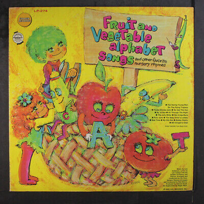 GOLDEN ORCHESTRA AND CHORUS: Fruit And Vegetable Alphabet Songs LP (sm tol, sm