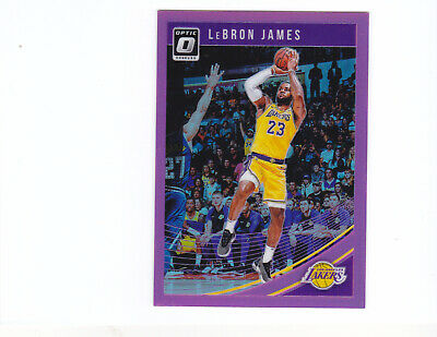 d2b8b6f7f3e LeBron James 2018-19 Donruss Optic Pink Prizm Refractor SP 20 25 LAKERS