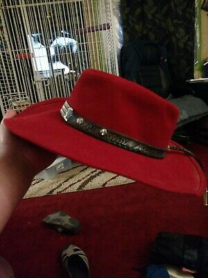05f0cf0067c EDDY BROS RED cowboy hat. XL for child or S for adult. 100% wool ...