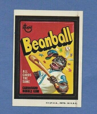 Wacky Packages Series 3 Beanball White Back Version-Rare