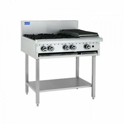 LUUS Essentials 4 Burner 300mm Chargrill Char Grill Cooktop BCH-4B3C NG