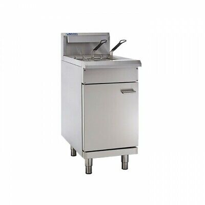 LUUS Professional 2 Basket Single V Pan Gas Commercial Kitchen Fryer FV-45 LPG