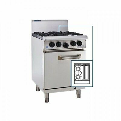 LUUS Professional 2 Burner 300mm Chargrill Char Grill & Oven RS-2B3C LPG