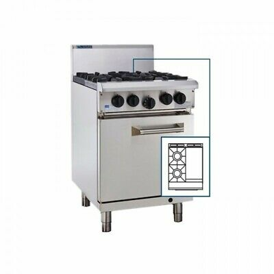 LUUS Professional 2 Burner 300mm Griddle Flat Hot Plate Grill & Oven RS-2B3P LPG