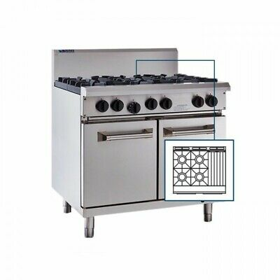 LUUS Professional 4 Burner 300mm Chargrill Char Grill & Oven RS-4B3C LPG