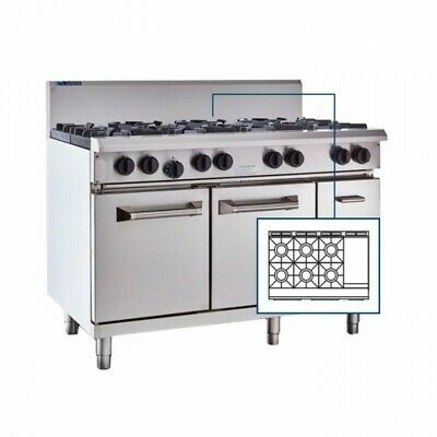 LUUS Professional 6 Burner 300mm Griddle & Oven RS-6B3P NG