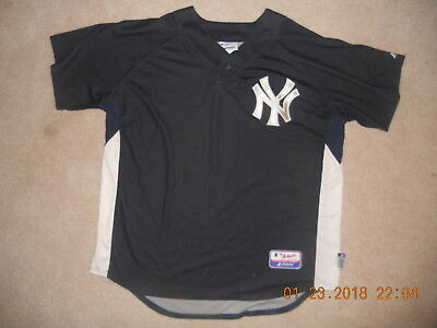 193ac6322 New York Yankees Baseball Jersey Cool Base Majestic Authentic Collection BP  XL