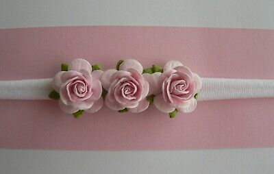 Assorted Newborn/Baby/Toddler/Girl Nylon Headbands With Mulberry Flowers