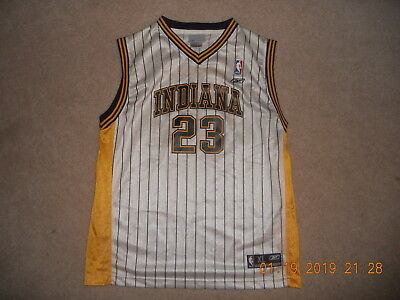 1252ba2bc Indiana Pacers Jersey  23 Ron Artest Meta World Peach Reebok Pinstripes Rare  Yth